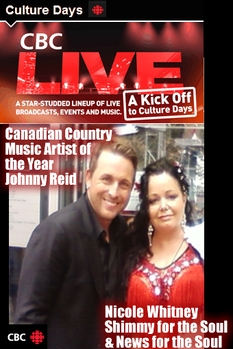 johnny reid cbc cultural days shimmy for the soul